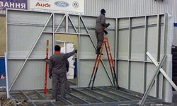 Строительство торговых павильонов в Череповце БМЗ